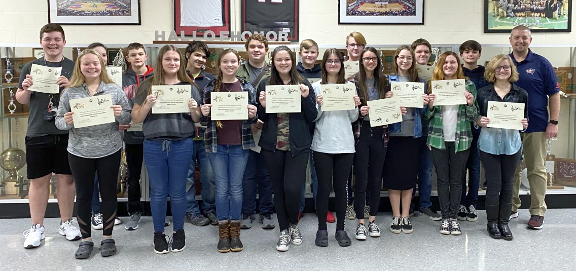 Band members recognized by board of education