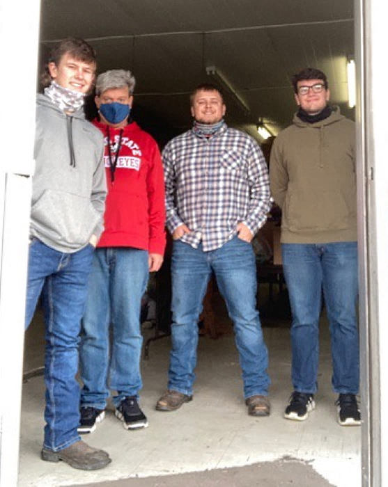 Photo of Brock Harden, Bryan Crabtree, Ethan Sickles, and Flint Barger