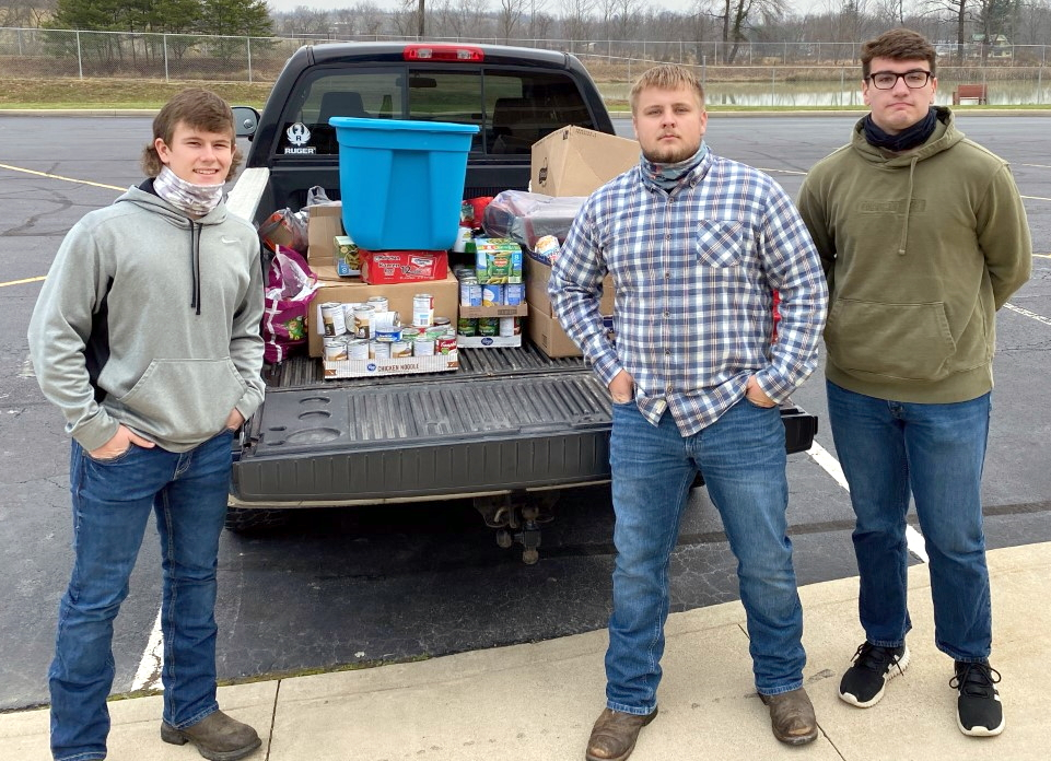 Photo of Brock Harden, Ethan Sickles, and Flint Barger